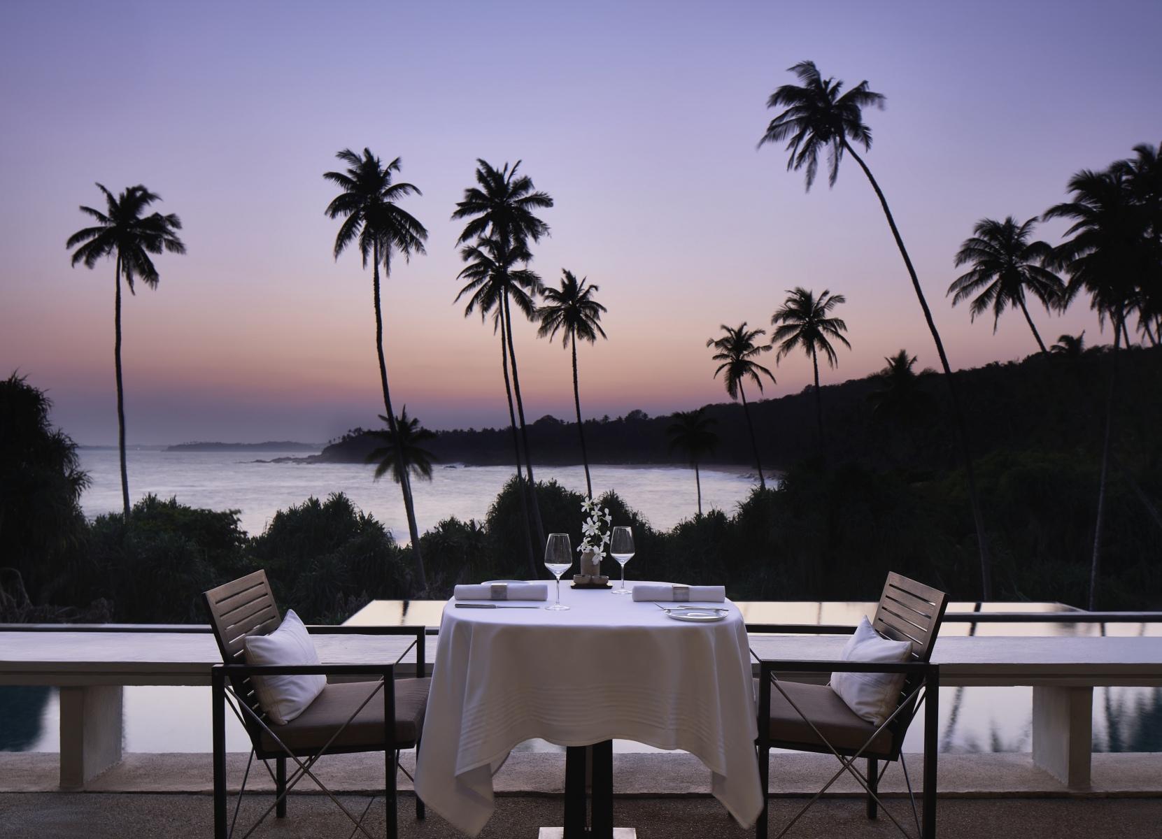 Amanwella, Sri Lanka - outside dining, evening.tif