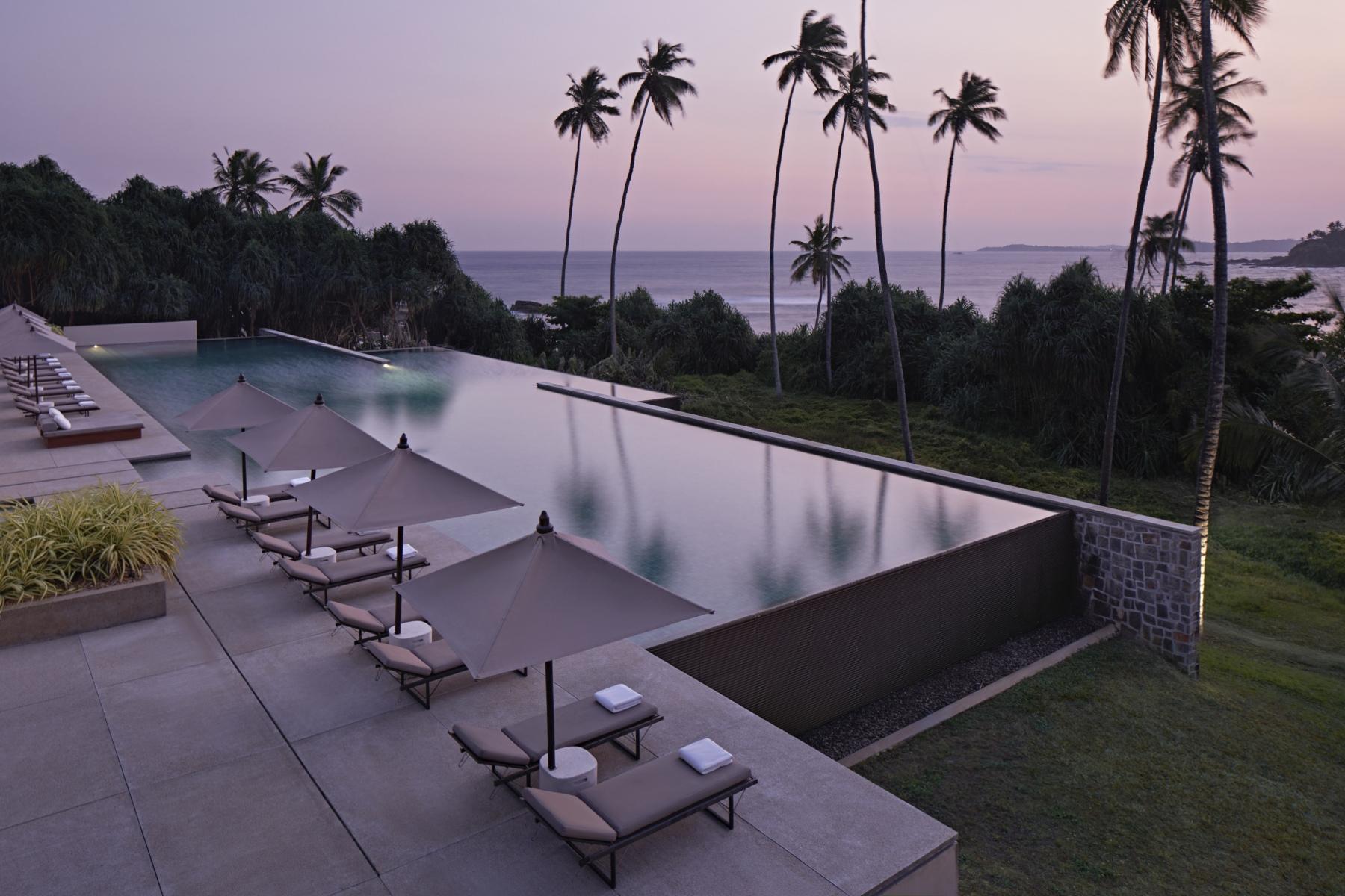 Amanwella, Sri Lanka - Pool, ocean view, sunset 3.tif