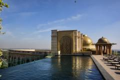 Roof top pool@Leela Delhi