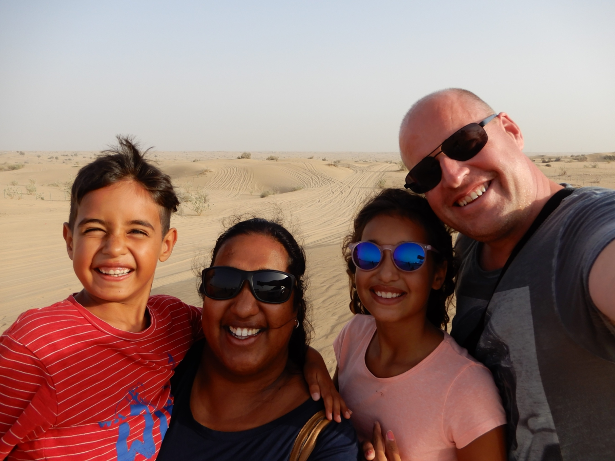 Familie in Dubai