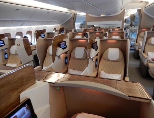 Business class met Emirates, een fantastische ervaring
